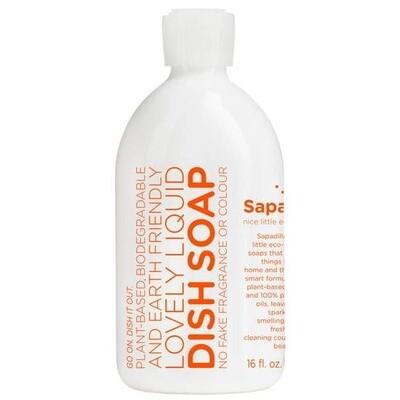 Sapadilla Eco Grapefruit + Bergamot Liquid Dish Soap 16 fl. oz.