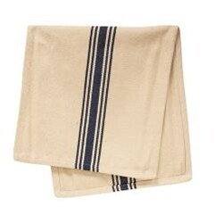 Cream & Navy Stripe Grain Sack Towel