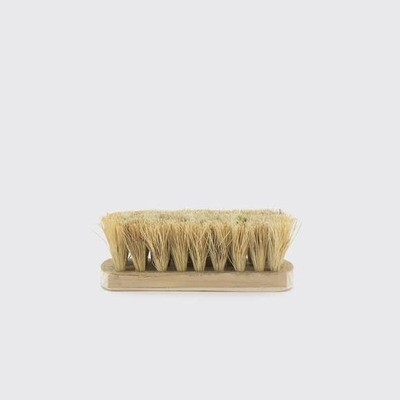 Small Natural Fiber Vegetable Brush with Wood Handle