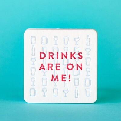 M.C. Pressure™ Drinks are on Me! Coasters Set of 8