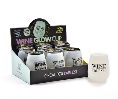 Glow-In-The-Dark Silicone Stemless Wine Tumbler