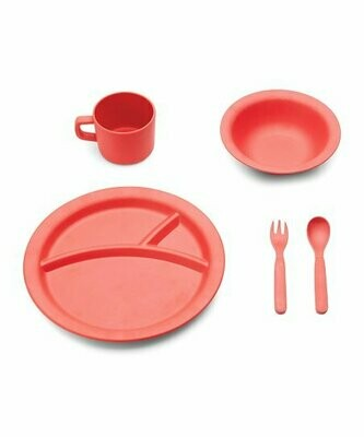 Red Rover Kids Bamboo Dinner Set - Red