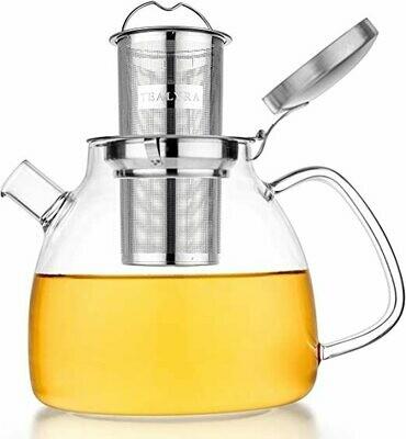 Tealyra® 37 oz. Lyra Glass Kettle Teapot