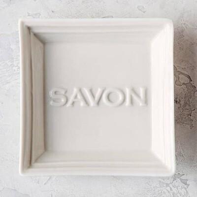Savon Off-White Ceramic Soap Dish