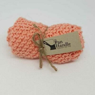 Coral Hand Knit Dish Cloth