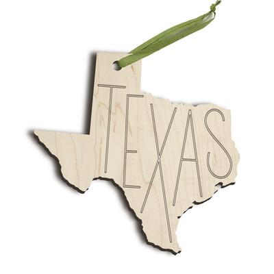Zootility Wooden Texas Ornament