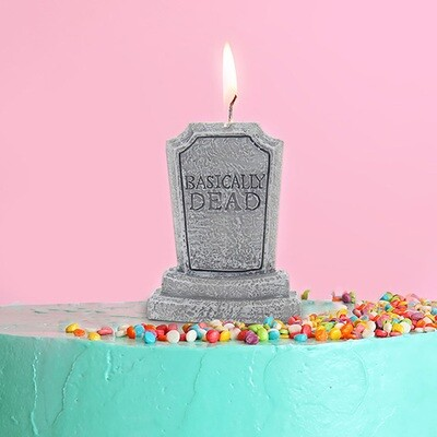 Basically Dead Tombstone Birthday Candle