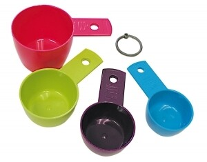 Colorful Plastic Measuring Cup Set 2637