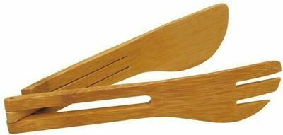 Large Bamboo Serving Tongs