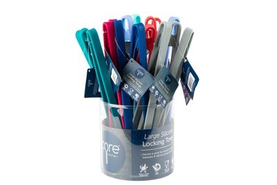 Core Home® Large Silicone Tongs in Assorted Colors