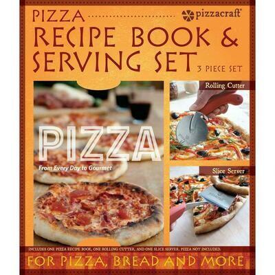 Pizza Craft Recipe Book & Serving Set