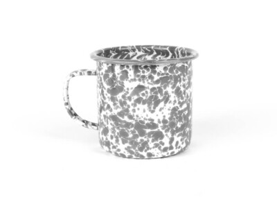 Crow Canyon™ Grey & White Splatterware Enamel Mug