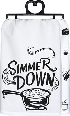 """Simmer Down"" Printed Tea Towel"