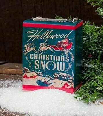 Vintage Hollywood Christmas Snow