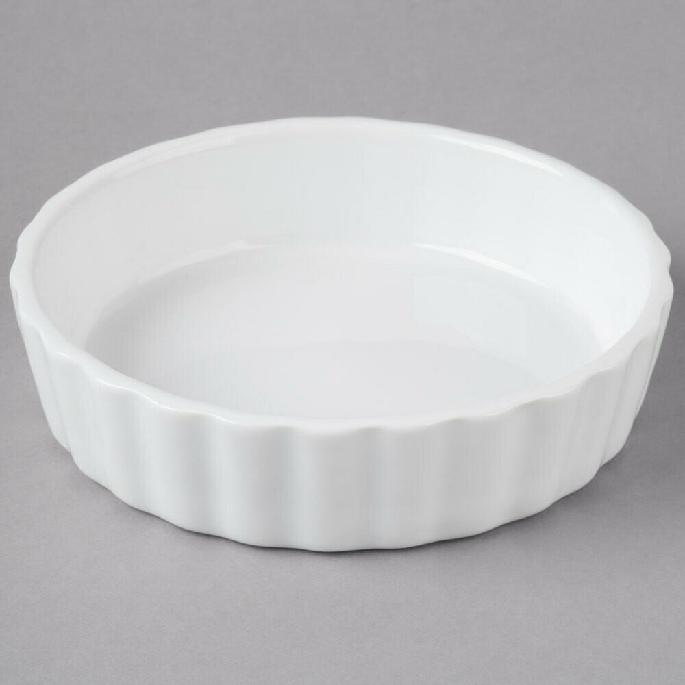 8 oz. Porcelain Fluted Créme Brûlée Dish