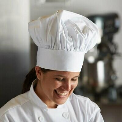 Mercer Culinary™ Millennia Adjustable White Chef Hat / Sloppy Toque