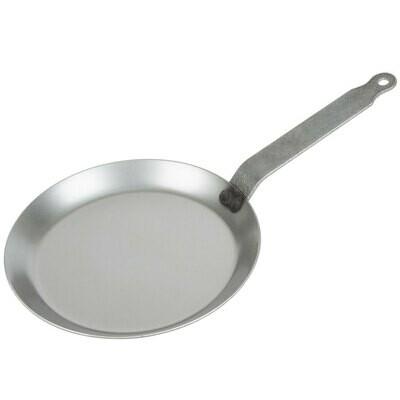 "8 5/8"" Heavy Duty Polished Black Steel Crepe Pan"
