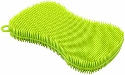 Kuhn Rikon® StayClean™ 3-in-1 Green Silicone Scrubber
