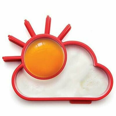 Sunnyside Up Red Silicone Egg Mold Shaper