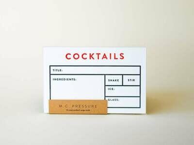 M.C. Pressure™ Cocktail / Mixology Recipe Cards