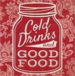 "Boston International® ""Cold Drinks & Good Food"" Cocktail Napkins"