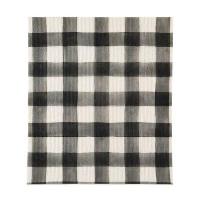 Creative Brands™ Black Plaid Organic Swedish Dishcloth