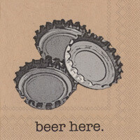 Beer Here Cocktail Napkins - 20 ct.