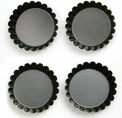 Mrs. Anderson's 4-Piece Fluted Non-Stick Tartlet Mold Set