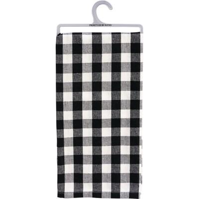 Black & White Small Check Dish Towel