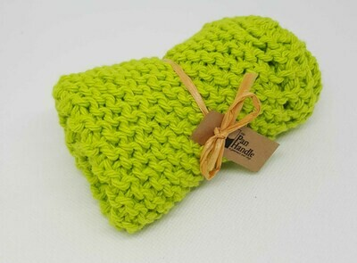 Lime Hand Knit Dish Cloth