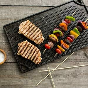 Lodge® Pre-Seasoned Cast Iron Reversible Griddle & Grill