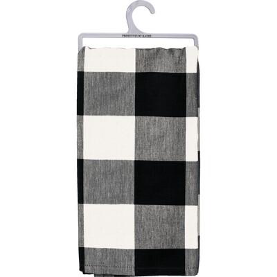 Black & White Large Buffalo Check Dish Towel