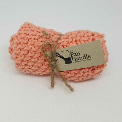 Coral Hand Knit Dish Cloth