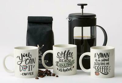 Coffee Talk Stoneware Mugs - Assorted Styles