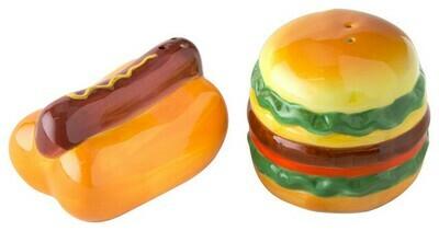 Amici Home® Hamburger & Hot Dog Salt & Pepper Shaker Set