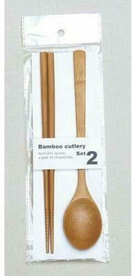 Bamboo Chopsticks & Spoon Set