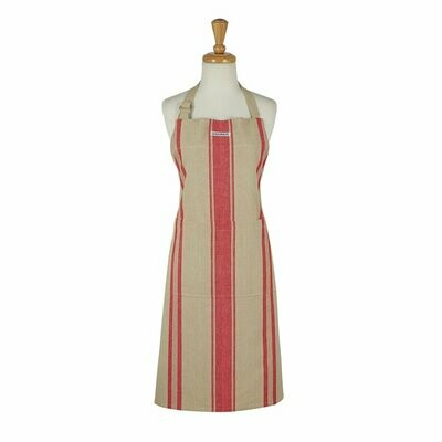 Red French Stripe Chefs Apron