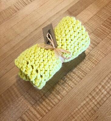 Sunshine Hand Knit Dish Cloth