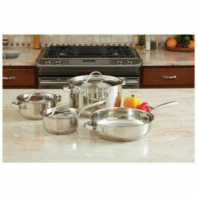 7-Piece Ever Clad Stainless Steel Cookware Set