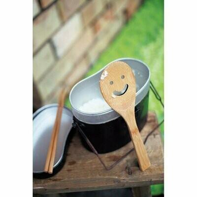 Bamboo Smiley Face Spoon Set