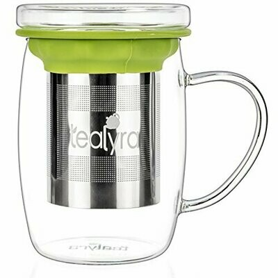 Tealyra® perfecTEA™ Glass Mug with Stainless Steel Infuser