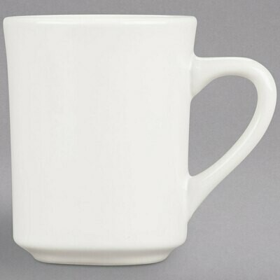 8 oz. Ivory Rolled Edge China Mug