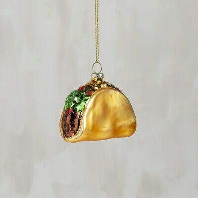 Glass Taco Christmas Ornament