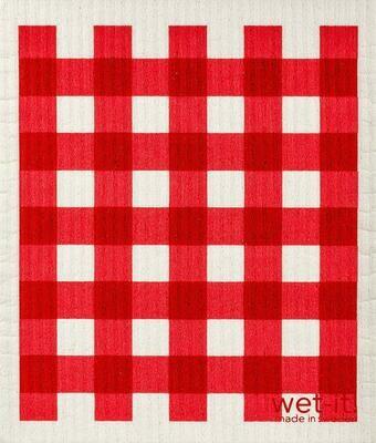 Wet-It! Red Gingham Swedish Dish Cloth