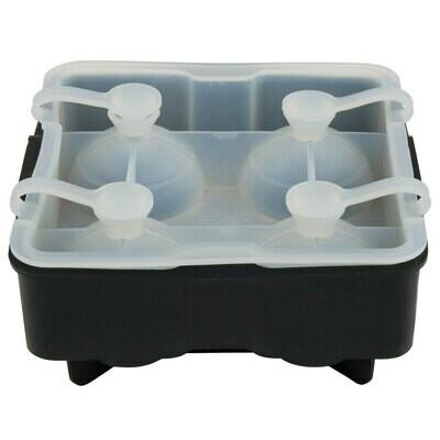 Tablecraft® Black Silicone 4 Compartment 1.75