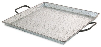 Large Square Hammered Tray