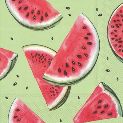 Boston International® Watermelon Green Cocktail Napkins