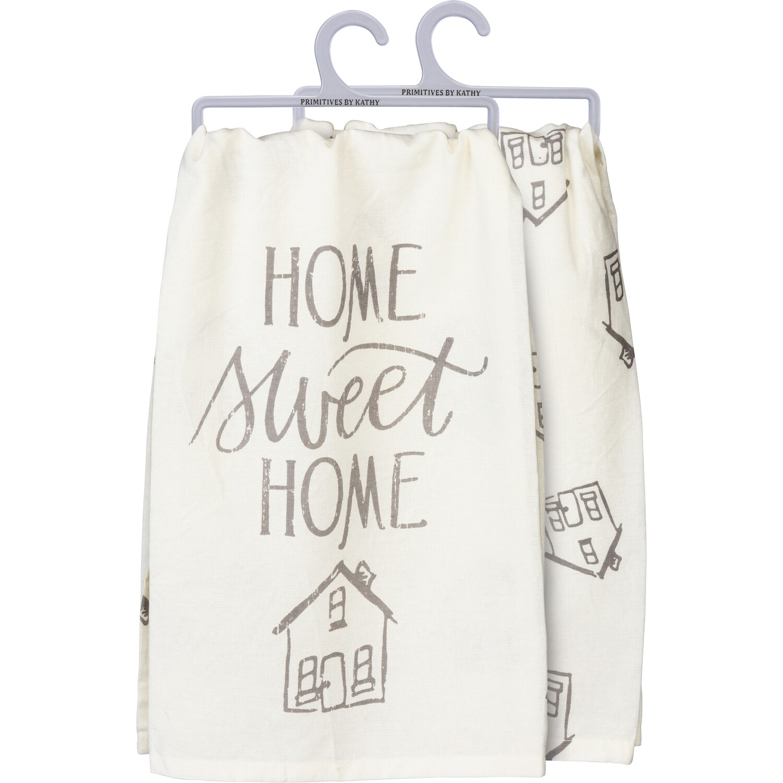 """Home Sweet Home"" Printed Cotton Dish Towel"