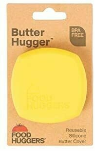Food Huggers® Reusable Yellow Silicone Butter Cover