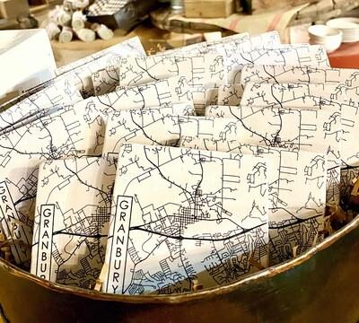 Granbury Custom Printed Map Coasters